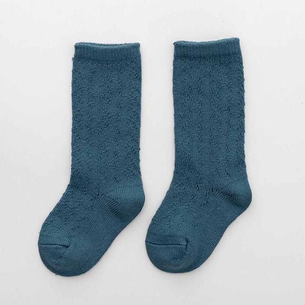 Bambino 0-7 calze anni bambini bambini ragazze calzino ginocchio alto in cotone calzini lunghi per bambini scava fuori carino calzino neonato neonato 7Z61K