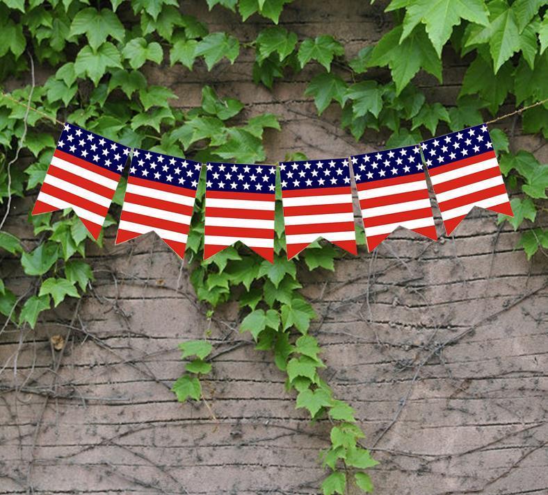 الولايات المتحدة الأمريكية شوبلات لافتات استقلال اليوم سلسلة الأعلام الولايات المتحدة الأمريكية رسائل الرايات لافتات 4 يوليو حزب الديكور CCF5030