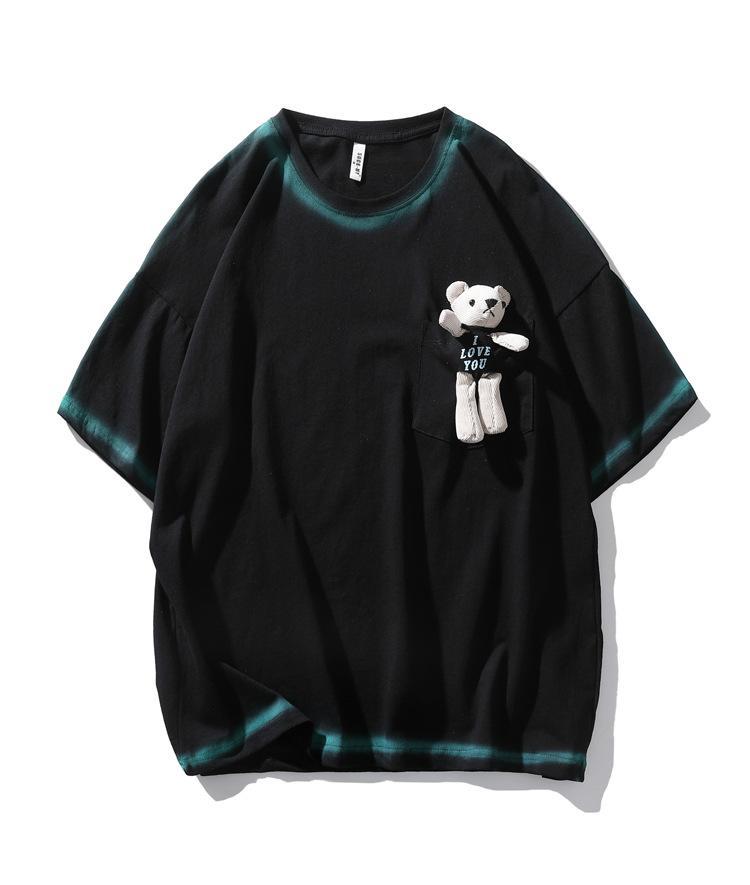 Komik T-shirt Pamuk Graffiti T Gömlek Sokak Rahat Şefkatli Kısa Kollu Erkek Kadın Gevşek Hip Hop T Gömlek Yaz Tops Tees Boy