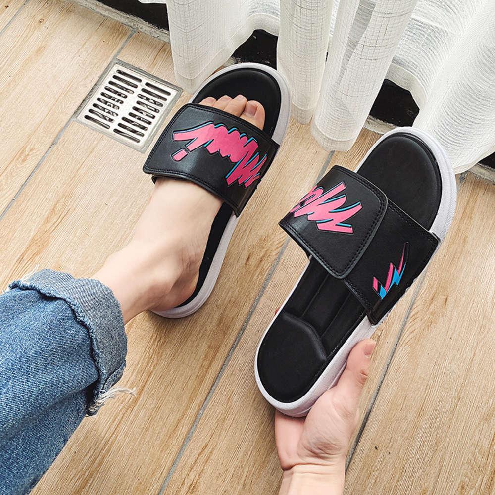 Net kırmızı terlik erkek moda giymek Kore flip flop severler açık yaz Antiskid plaj gelgit marka sandalet