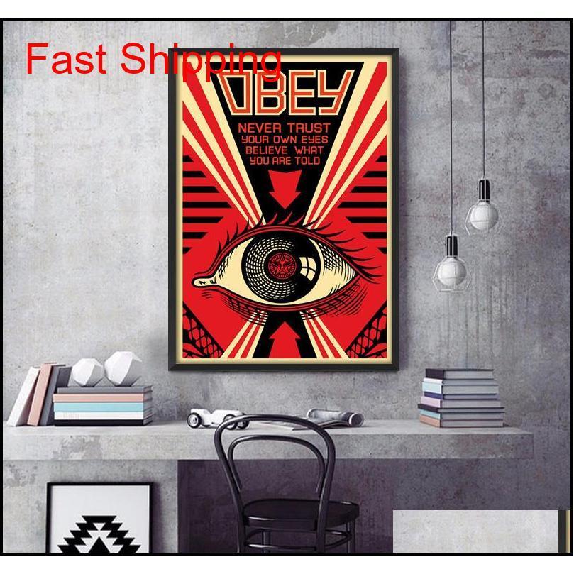Obedece Shepard Fairey Art Poster Print PhotoPaper 16 Qyluog Whmome
