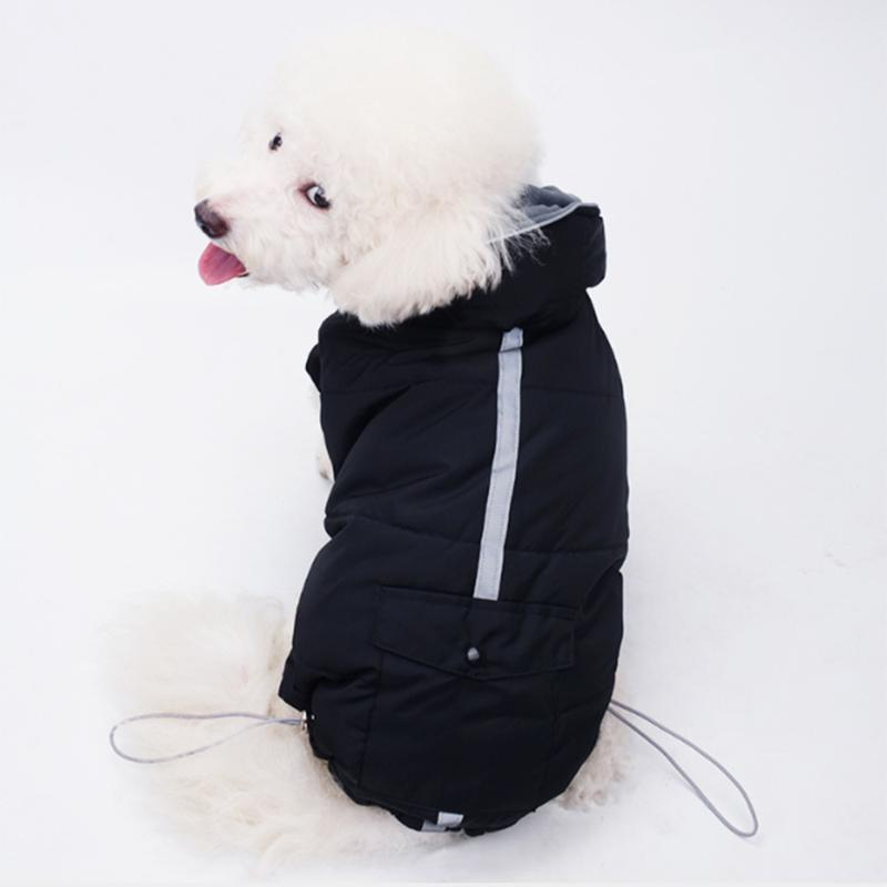 Dog Apparel Pets Vest Clothes Hoodie Coat Security Reflective Safety Luminous Pet Winter Jacket Autumn And