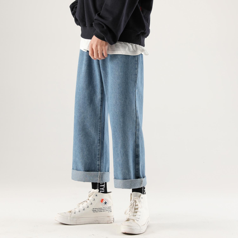 2021 Новый японский стиль мужской мешковатый Homme грузовые карманные джинсы 4 цветные повседневные брюки мужская мода Trend широкие брюки ноги размер M-XL LRXJ