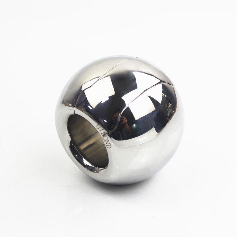 16 사이즈 칵테일 남성 스테인레스 스틸 볼 모양 스크러운 펜던트 무게 철 가랑이 커버 남근 반지 섹스 토이 B2-201