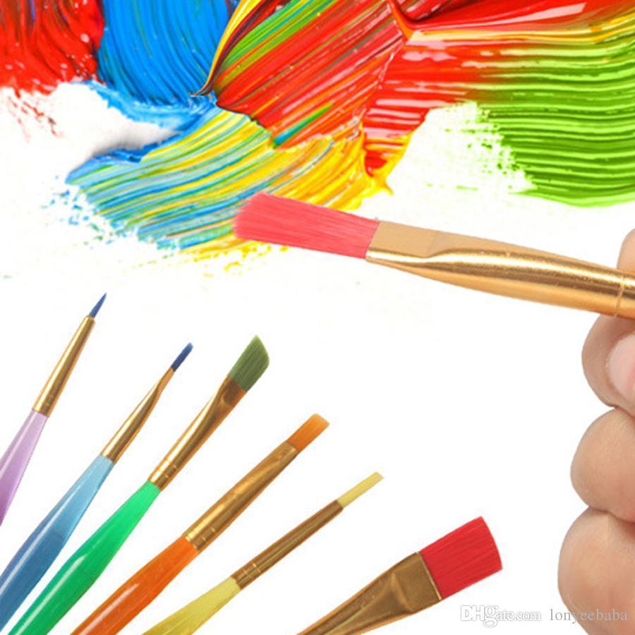 الجملة 6 العصي شفافة diy الأطفال المائية فرشاة ملونة قضيب الطلاء فرشاة دائم الاطفال لينة فرشاة رسم القلم DH1200 T03