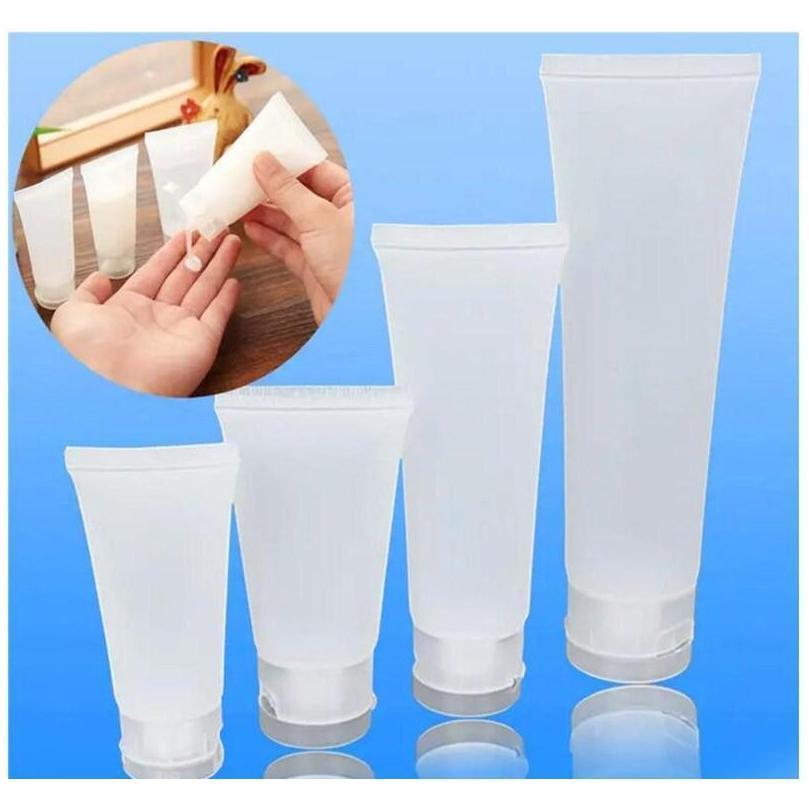 15ml 20ml 30ml 50ml 100ml garrafa geada reusável plástico vazio cosmético tubos macios de viagem recipiente de maquiagem jllegb outbag2007