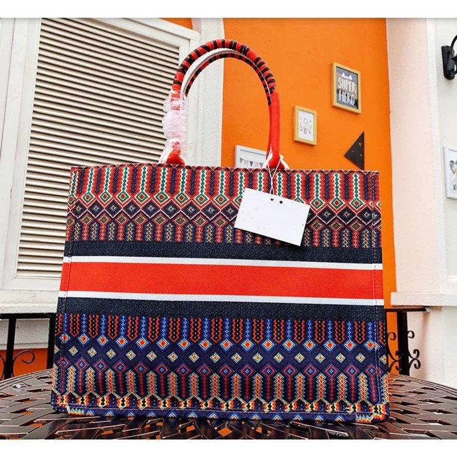 2021 moda classica donna grande xxl colorato borse colorate borse stampa borse da ricamo multi colore spiaggia spalla borse g o shopping bag capacità capacità borsa tote
