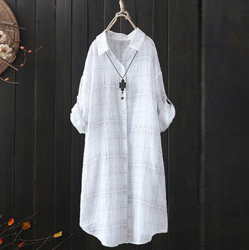 여성 블라우스 셔츠 여성 블라우스 봄과 가을 빈티지 긴 소매 인쇄 플러스 사이즈 셔츠 탑스 캐주얼 느슨한 # 1216