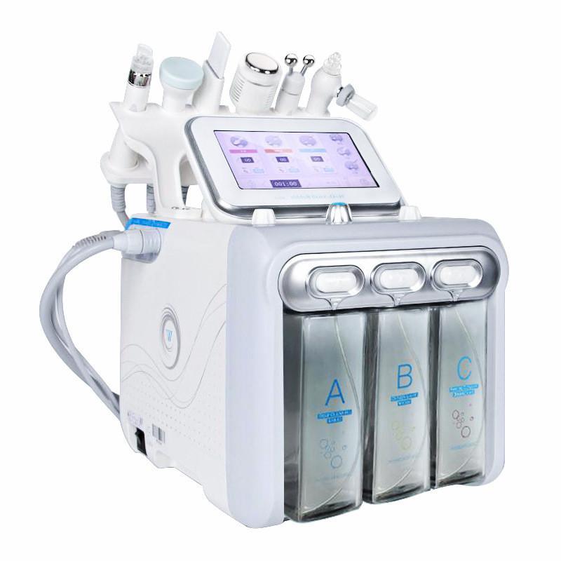 Горячая распродажа 6 в 1 вакуумная уборка гидроалматы Dermabrasion водяной кислородный кожурный станок вакуумная машина для очистителя для лица