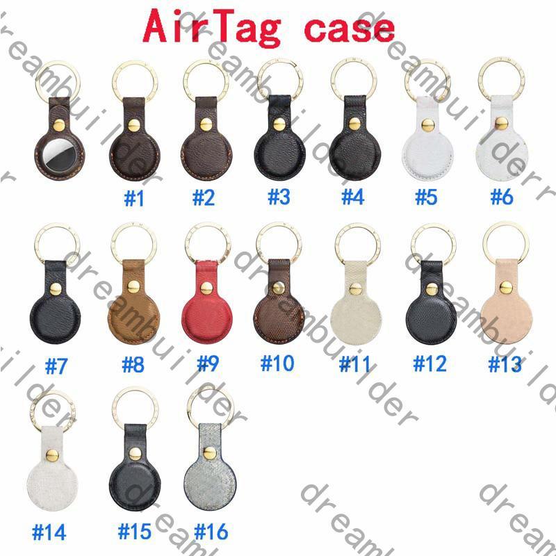 2021 AIRTAG 케이스에 대한 최고 패션 케이스 PU 가죽 열쇠 고리 방지 장치 보호 커버 에어 태그 쉘