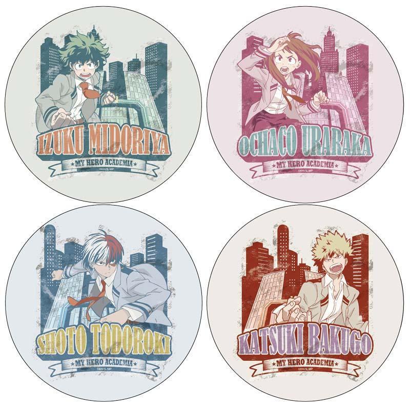 Pins, Broşlar 4 adet Anime Japonya Karikatür Benim Kahraman Academia Pins Cosplay Rozeti Broş 58mm Koleksiyon Sırt Çantaları Cadılar Bayramı Hediye Yuvarlak Oyuncaklar