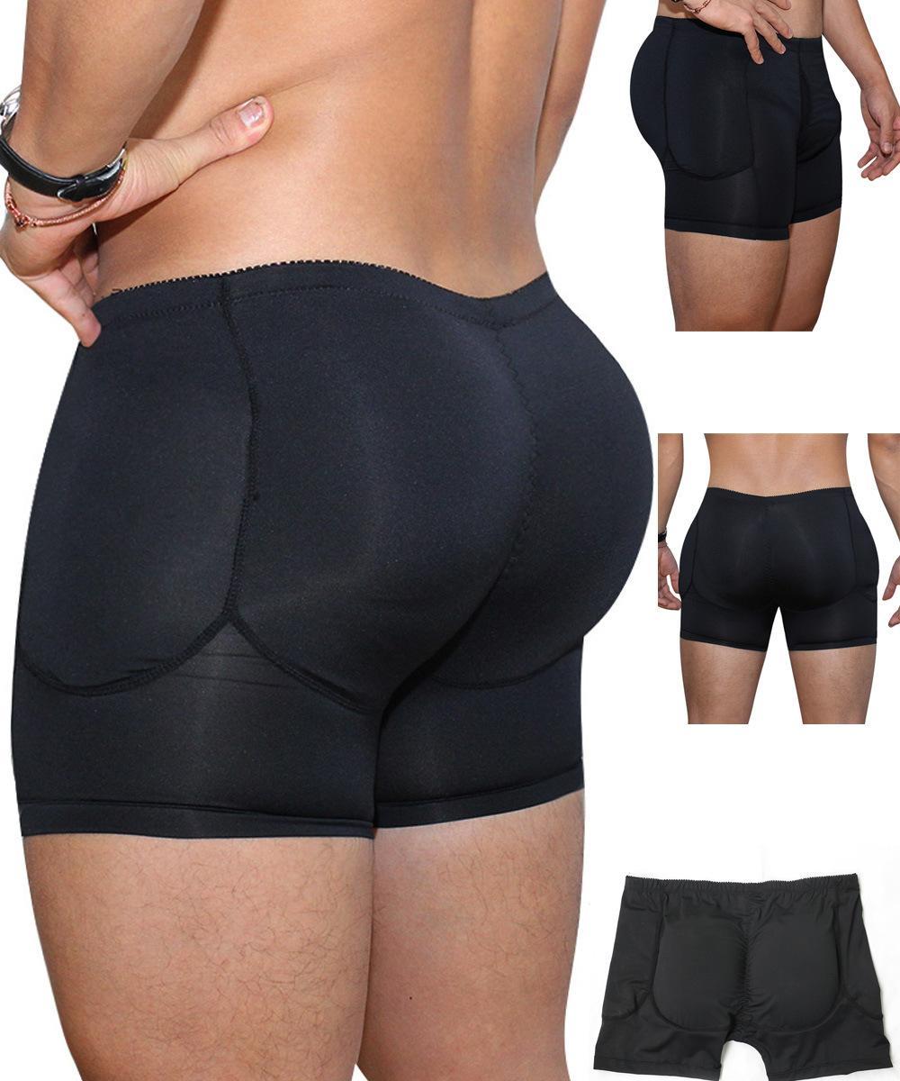 Topmelon uomo anteriore uovo sacchetto con foro e schiena glulock up design sexy boxer shorts A148