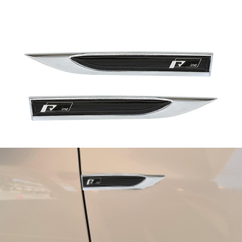 크롬 엠 블 럼 배지 스티커 자동차 펜더 측면 3D 쌍 나이프 트림 스타일링에 대 한 r 라인