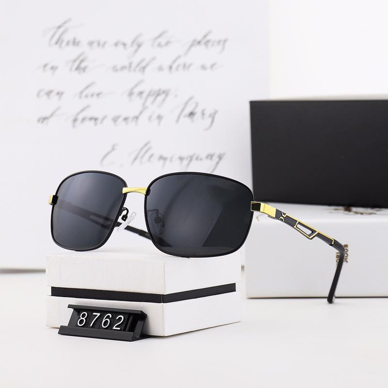خمسة ألوان معدنية القيادة النظارات للرجال العصرية عالية الجودة hd الاستقطاب العدسات الأزياء عارضة نظارات 8762