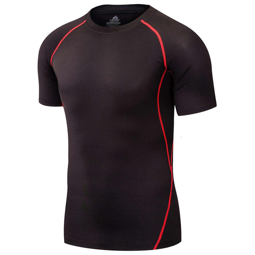 2019 Men's T-Shirts Compression Running Shirt Fitness Tight Top Tennis Soccer Jersey Gym Home Sportswear Quick Dry Short sleeve
