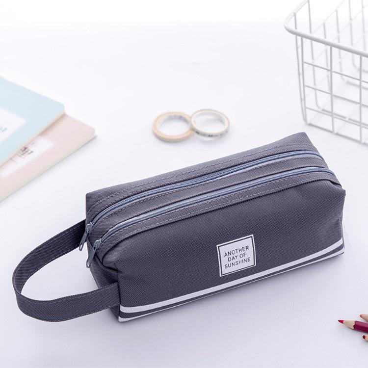 High Capacity Pen Bag Durable Pen Case With Handle Portable Double Layer Stationery Storage Bag (6 Colors) MY-inf0645 114 S2