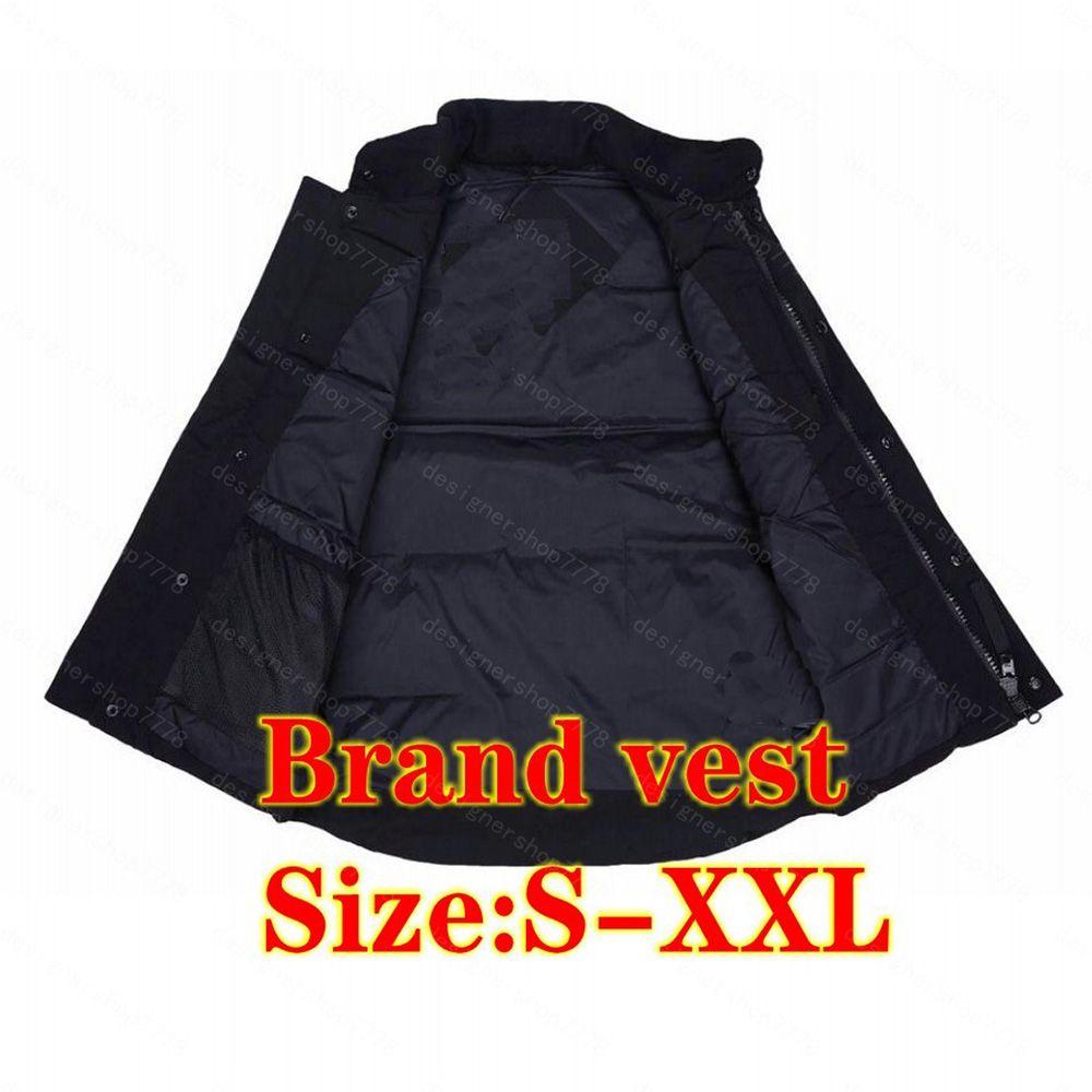 2021 조끼 아래로 자켓 따뜻한 남성 스타일리스트 겨울 패션 남성과 여성 겉옷 두꺼운 야외 코트 필수 냉간 보호 코트 조끼 크기 S-2XL