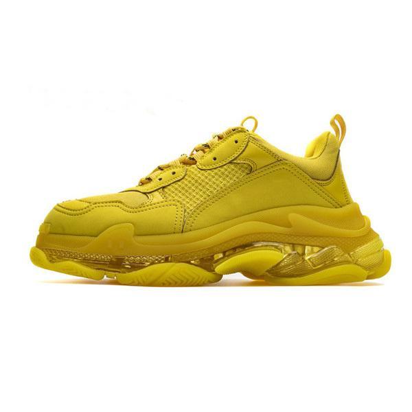 2020 Yeni Paris Moda 17fw Üçlü S Sneakers Kristal Alt Üç Kalller Çizmeler Erkekler Kadınlar Için Yeşil Beyaz Vintage Eski Baba Büyükbaba Rahat Ayakkabılar