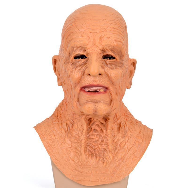 Máscaras de fiesta Old Man Cosplay Broma práctica Adulto Horror Máscara de truco para el látex de Halloween Juguetes de broma Toys regalos de simulación