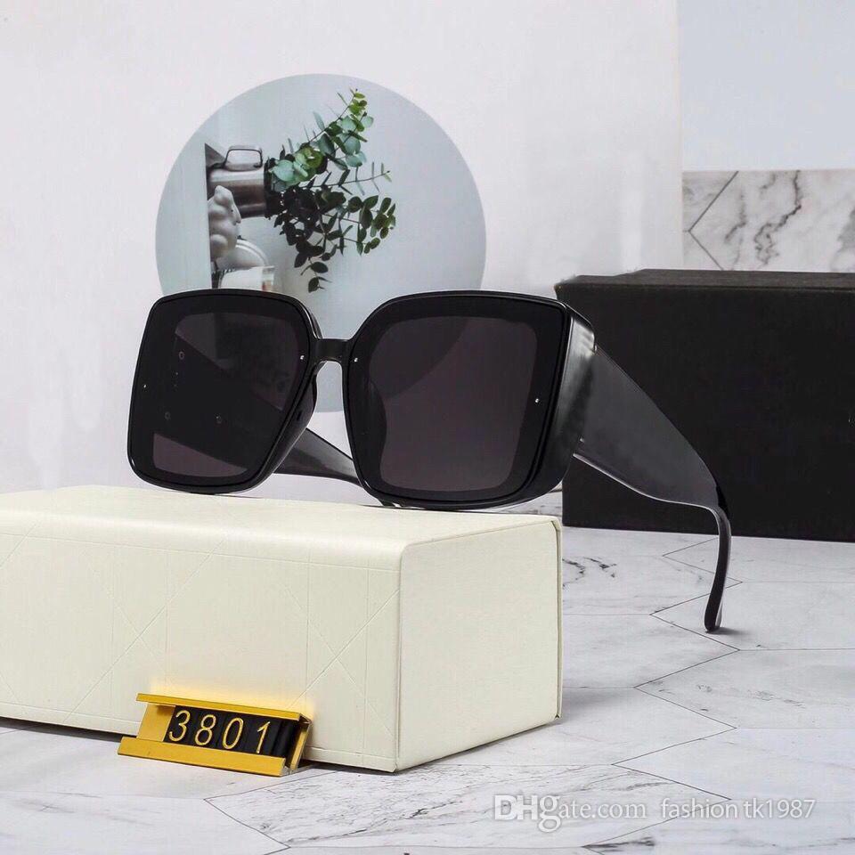 High quality Fashion men's and women's retro Designer sunglasses Square full frame UV 400 Outdoor beach Driving trip Birthday Gift 12-380 in original Box