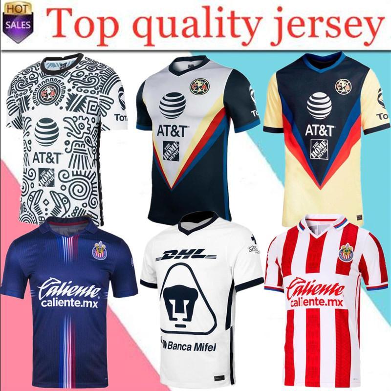 새로운 20 21 CA 유니폼 Peralta P.Aguilar Dominguez 축구 유니폼 2020 2021 홈 멀리 세 번째 훈련 Tigres Chivas de Guadalajara Kit Camisas
