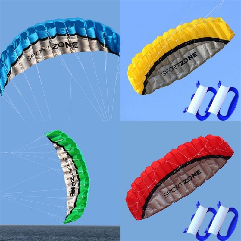 عالية الجودة 2.5 متر الأزرق المزدوج الخط parafoil طائرة ورقية معمل أدوات السلطة جديلة الإبحار kitesurf rainbow الرياضة الشاطئ 30 x2