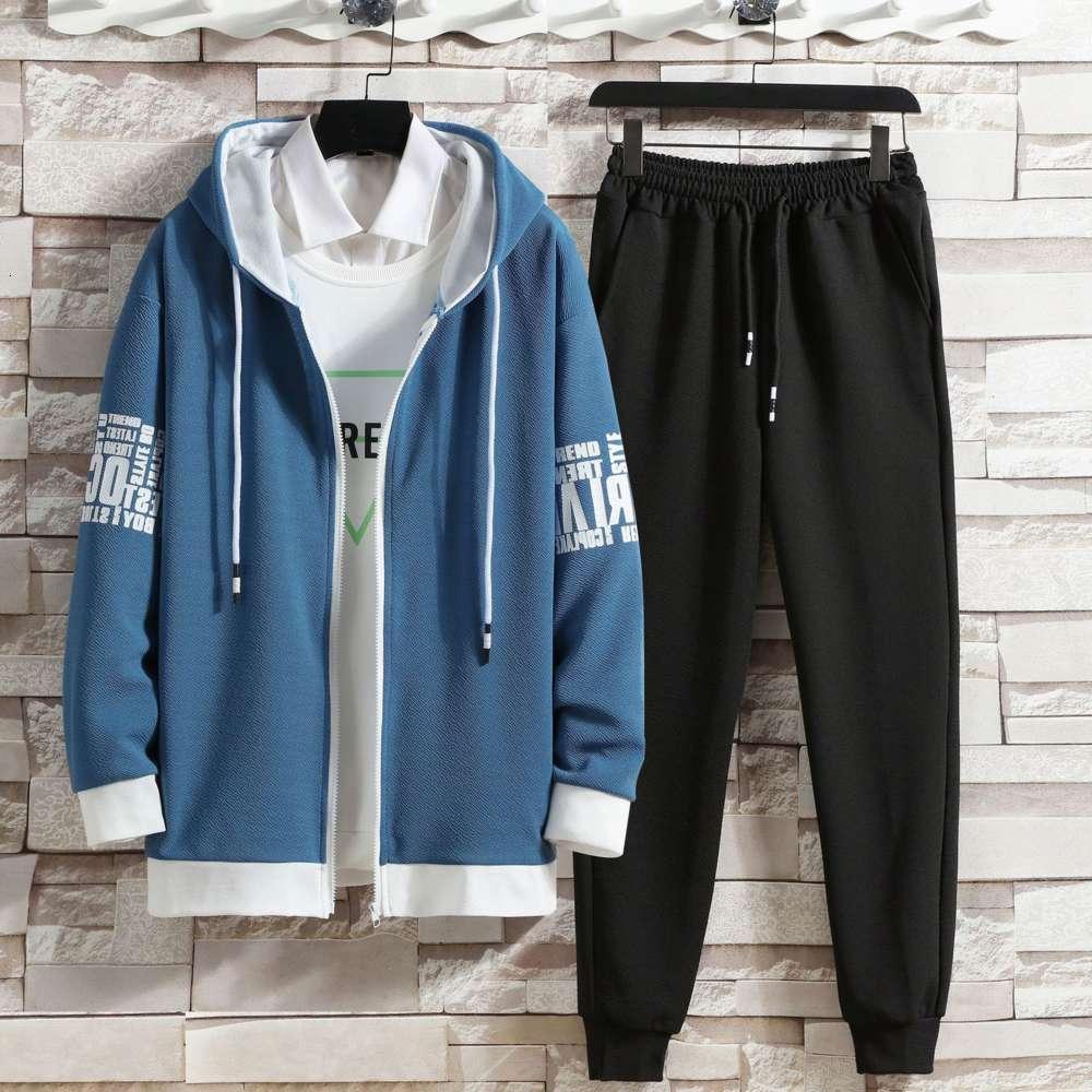 Свитер костюм весна и осень мужская корейская студенческая тенденция кардиган куртка две части для подростков