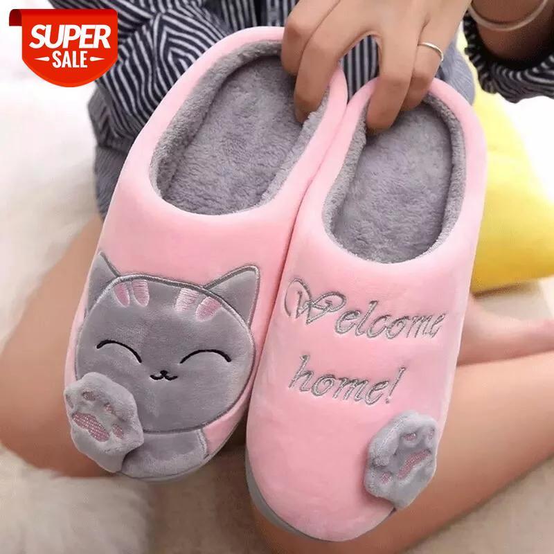 Puentua женщин зимние домашние тапочки мультяшные ботинки нескользящие мягкие зимние теплые домашние тапочки крытые спальни влюбленные пары # S74R
