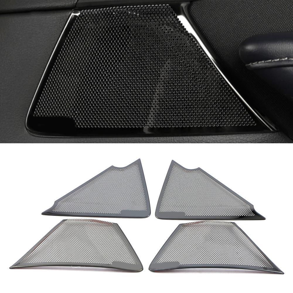Pour Mazda CX-30 2021-2022 Panneau de porte en acier inoxydable Panneau de haut-parleur Pad de haut-parleur Couvre-haut-parleur Cadre Cadre Cadre Cadre Sticker Moulding Accessoires