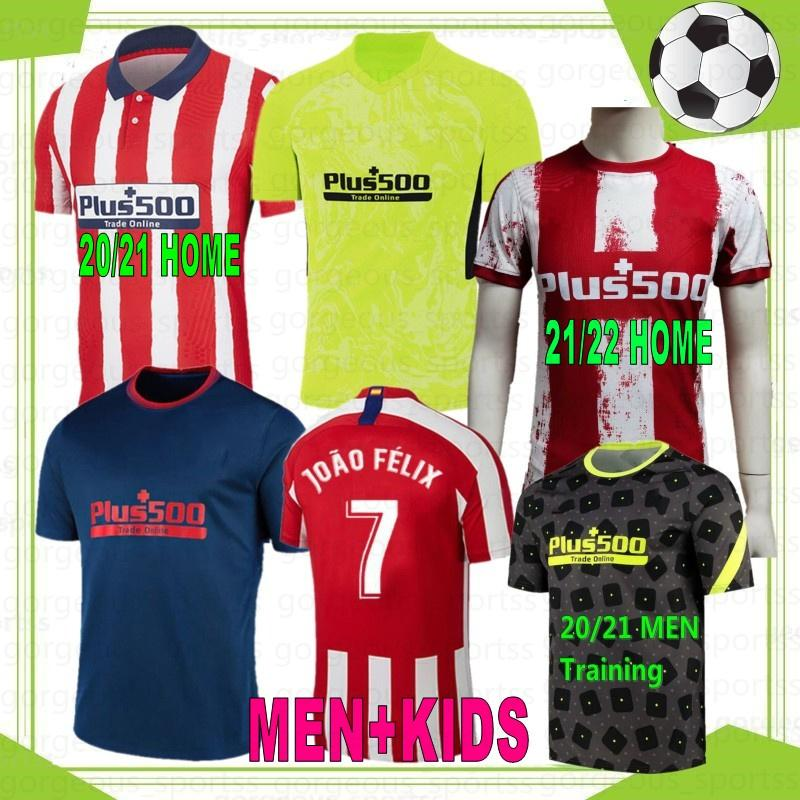 21 22 João Felix Men Kids Futebol Jerseys 20 Koke Griezmann Saul Lemar Suarez Correa Diego Costa Football Camiseta de Fútbol