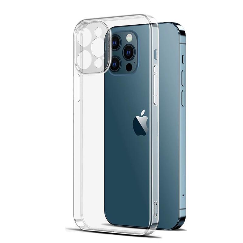 Soft TPU Transparent Clear Phone Case Protect Cover Casi antiurto per iPhone 12 11 Pro Max XS XR XS Max 7 8 Plus