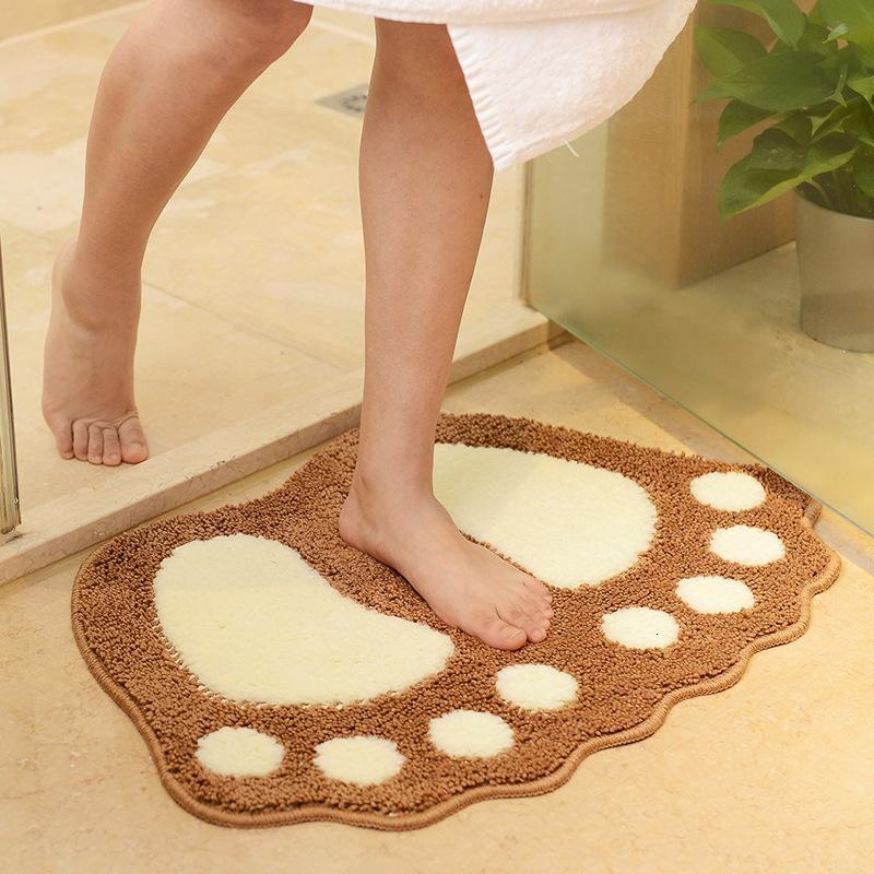 Güzel büyük ayaklar ev kat karikatür kapı yatak odası halı banyo anti slayt mat