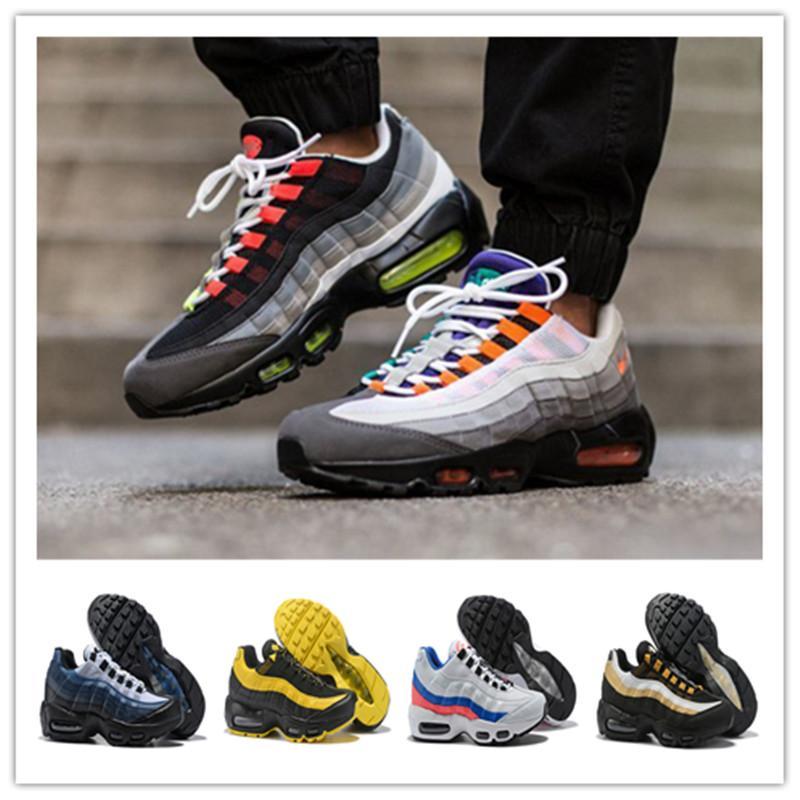2021 جديد الرجال النساء الترا 95 og x 20th الذكرى رجل الجري الأحذية الرياضية 95S مدرب أحمر أبيض أسود المشي Chaussures التنس
