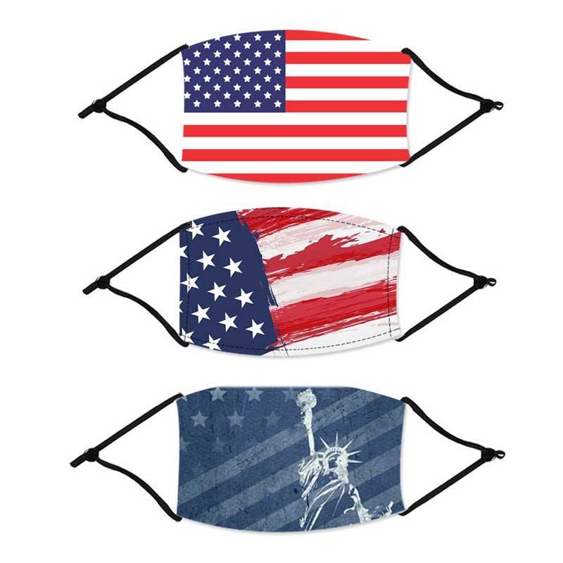 Masque drapeau des concepteurs US Radisable Réutilisable Enfants Masque Face Masque de tissu en tissu confortable pour adultes en plein air Active
