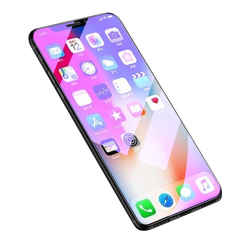 Новый для iPhone Телефон Фильм Полный экран HD Фиолетовый Пленка Анти-Синий Свет Мобильный телефон Стеклянная пленка Фиолетовое закаленное стекло