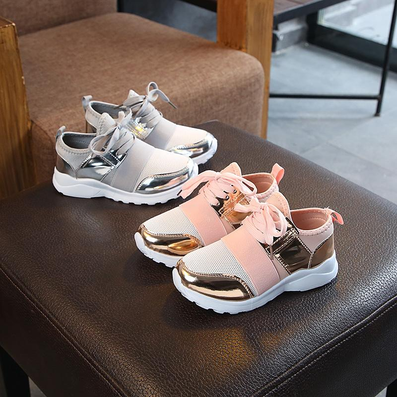 Fashion Casual Breathable Sneakers For Girls Boys Shoes Spring Autumn Child Sneakers Shoes Kids Flat With Boys Girls Sneakers 210303