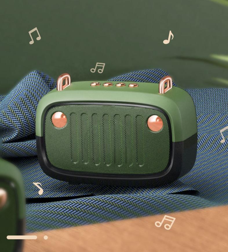 휴대 전화 등에 대 한 블루투스 무선 스피커 등 3 ~ 4 시간 사용 작은 휴대용 스피커 800mAh 지원 10 미터 USB 오디오 플레이어