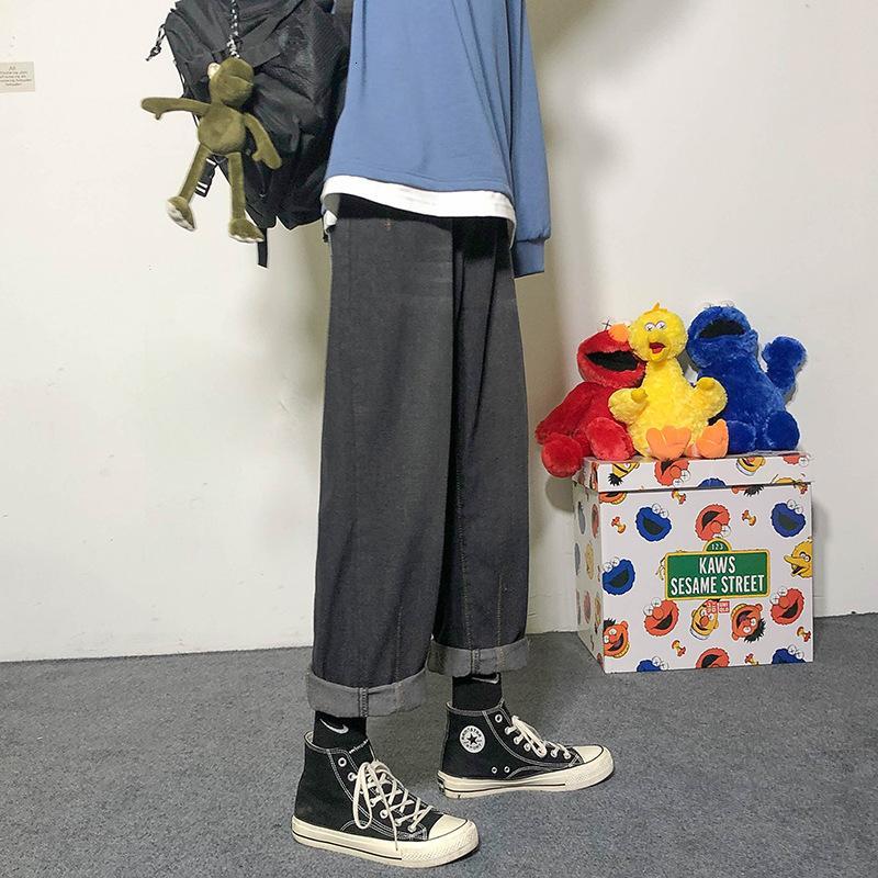 Primavera 2021 New Jeans Jeans Uomo Sciolto Lettera Casual Lettera Ricamo Couple Couple Dritto Pantaloni