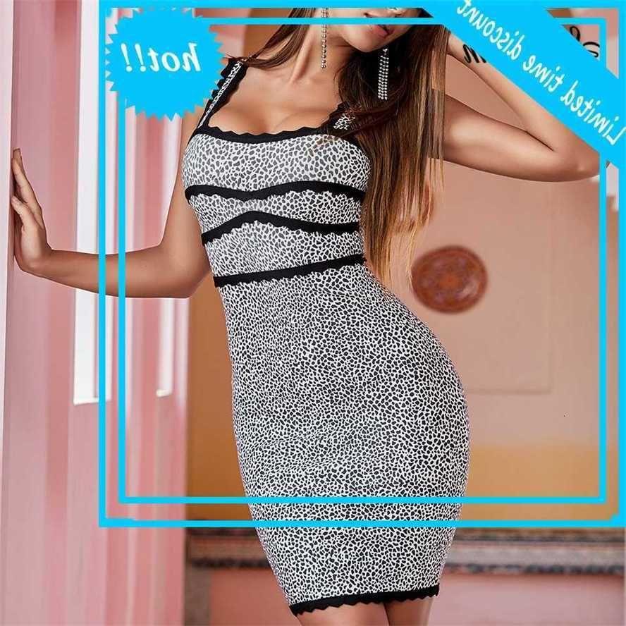 Nouvelle Arrivée Sexy Summer Women Women Sans Manches V-Col V imprimé Bandage Bandage Bandage Bandage 2020 Elegant Club Mini Vestidos
