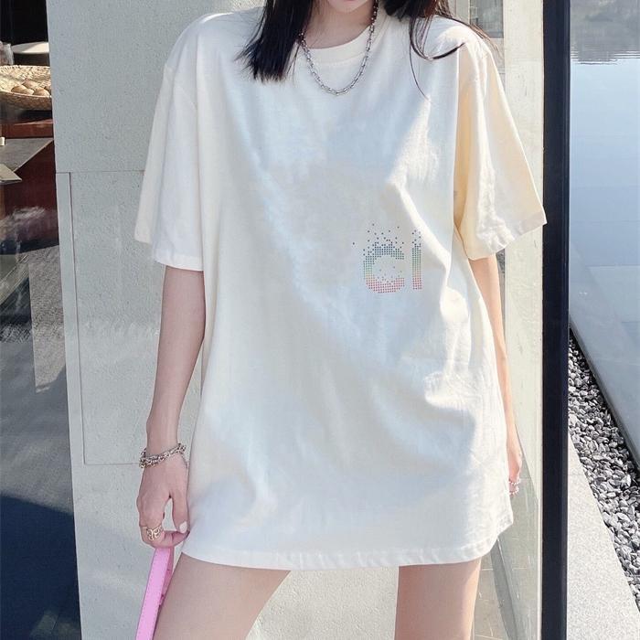 2021Summer NOUVELLE T-shirt à manches courtes à manches courtes confortables et Versatilec92