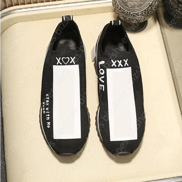 Slip-on stretch maglia calza scarpe casual ITALIA Suola in gomma donna scarpa all'ingrosso comodo formatori designer sneaker