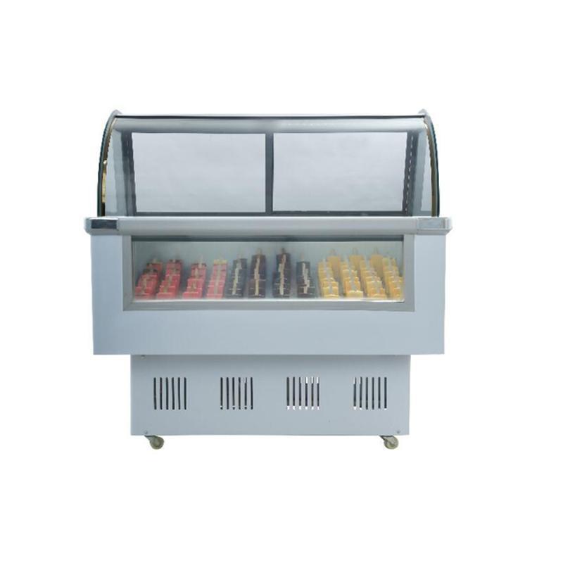 Máquina de fabricación de helados 2021 Mini Popsicle Display Showcase Italiano Delicioso Congelador congelador Contador Refrigeración EQ CFR por mar
