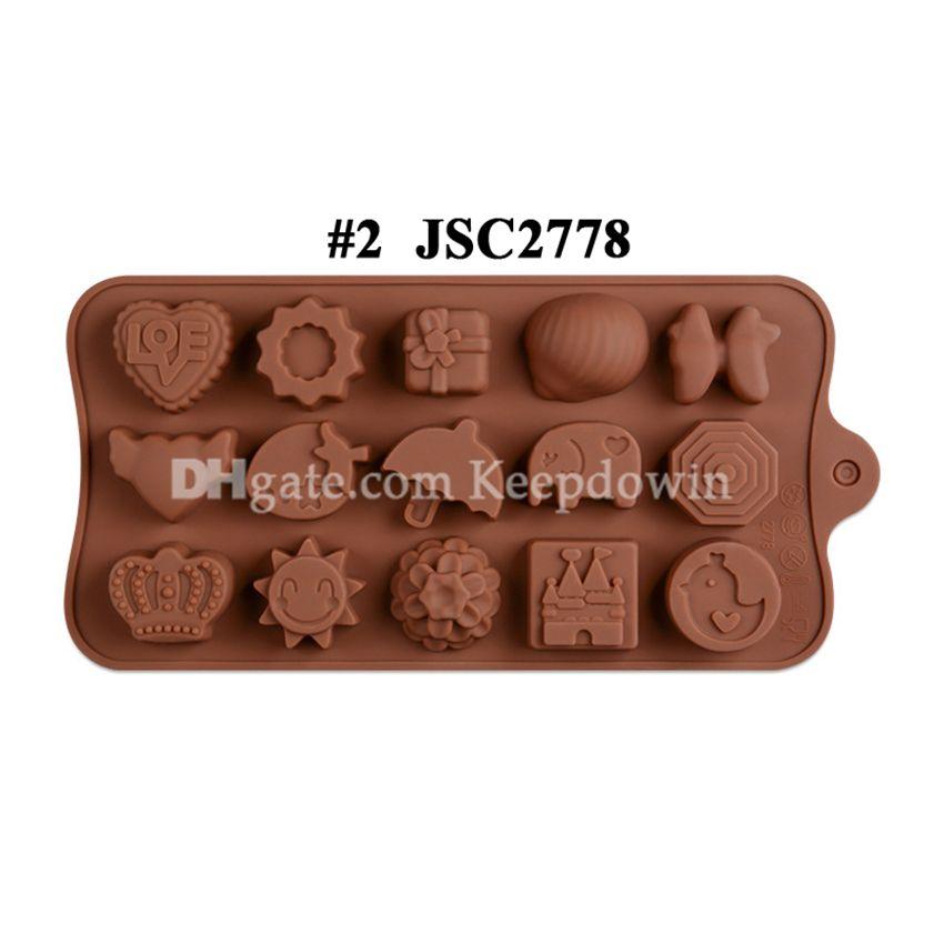 Çikolata Kalıpları Silikon Sıcak Kakao Bombaları Kalp Kalıpları Için Çikolata Şeker Kalıpları Silikon Şekiller Festivali Düğün Partileri için Silikon Şekiller JSC1377
