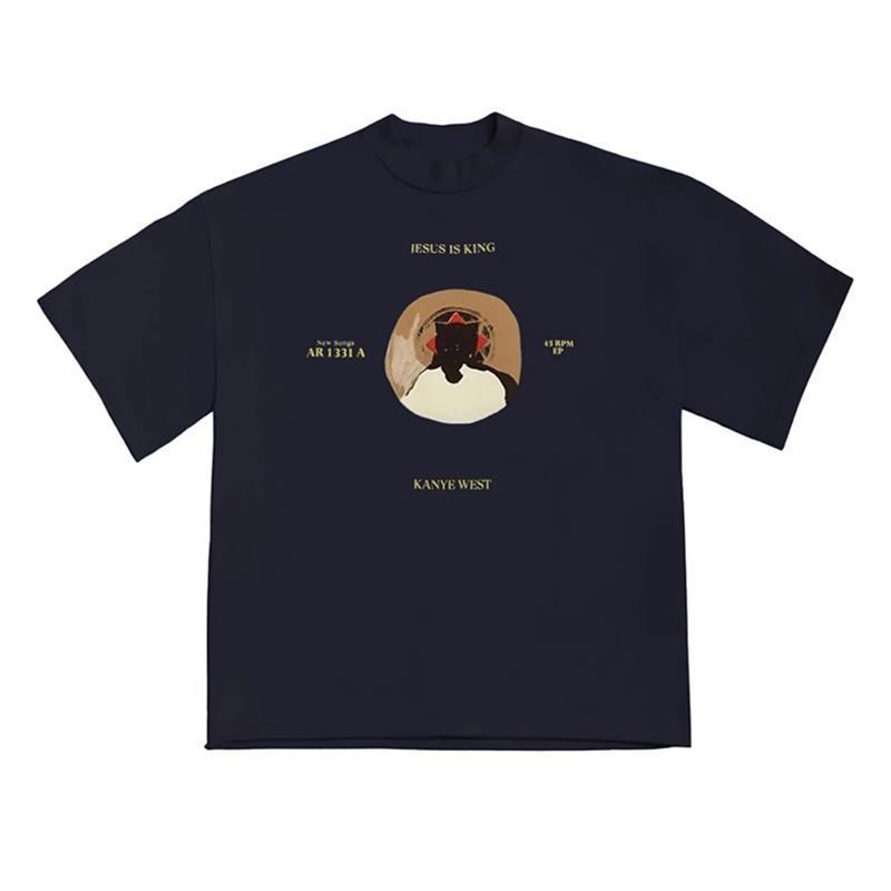 20ss Ins Sıcak Bahar Gömlek Gömlek İsa Kaykay Chicago Rahat 45 T Yaz Sokak Erkek Amerikan T Kral Kadınlar Sınırlı Tasarımcı Tişört UIVFA