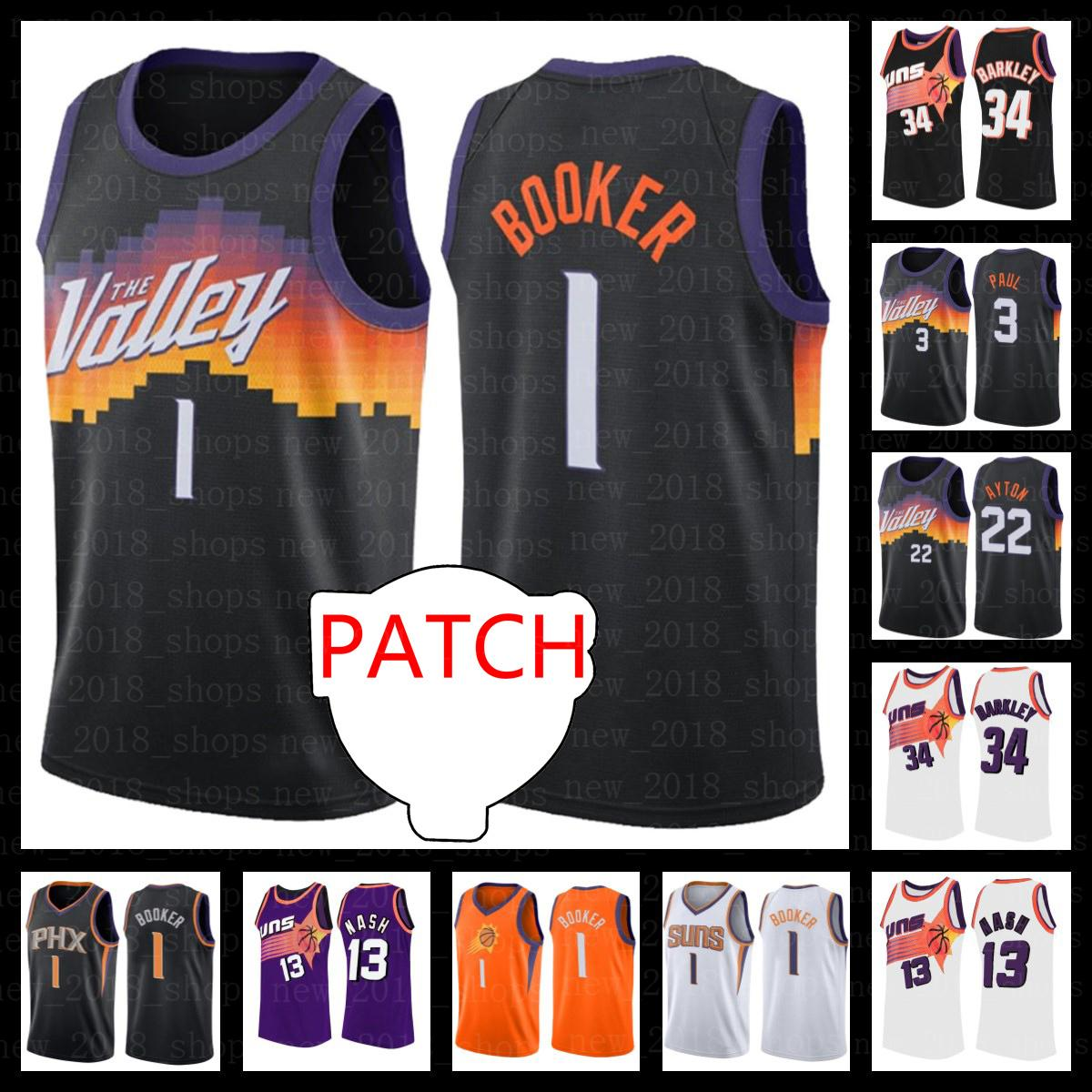 Patch final Chris 3 Paul Devin 1 Booker Jerseys Deandre 22 Ayton Charles 34 Barkley Steve 13 Nash Retro Josh 20 Jackson Basketball