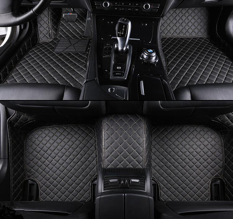 Custom 5 Seat car floor mats for jeep Grand Cherokee Commander Compass Liberty Patriot Renegade car mats auto accessories