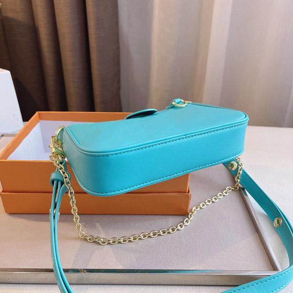 2021 حقيبة الكتف مصمم المرأة الأعلى الجلود الأزياء الفاخرة مصغرة رسول أكياس mahjong مع مربع حجم 20 * 4 * 11 سنتيمتر