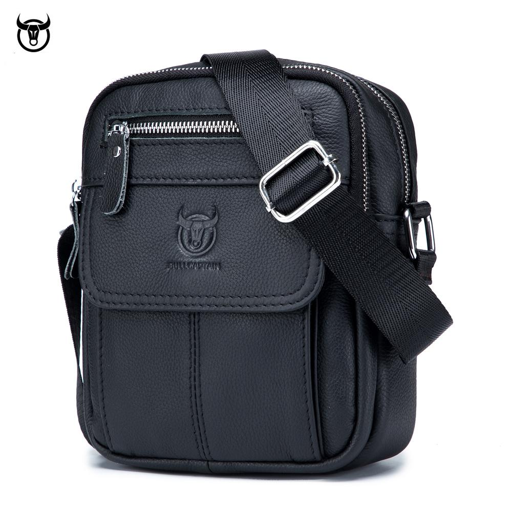 2021 New Men's Genuine Leather Messenger Shoulder Bag Vintage Cow Leather Male Casual Multifunction Small Crossbody Bag Fashion C0224