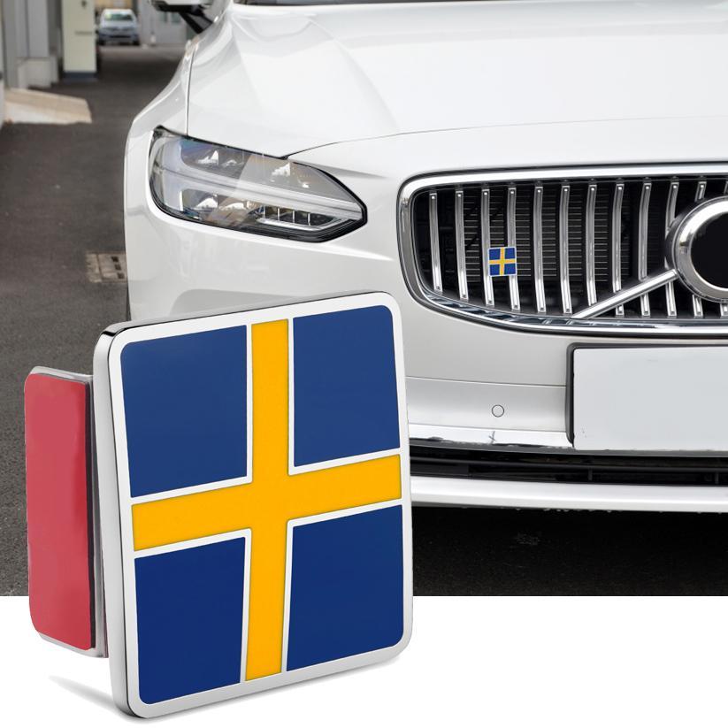 Métal voiture grillal coffre Suédois Drapeau Embelm 3D pour Volvo S80 S90 C30 C60 C70 XC40 XC60 XC70 XC80 XC90 Badge Sticker Sticker Luxe