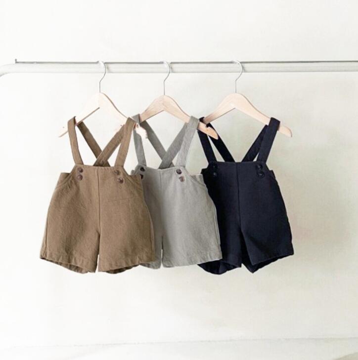 2021 Neue Style Girls Jungen Overalls Frühling Baumwolle Mode Kinder Hosen 1-7T QM221